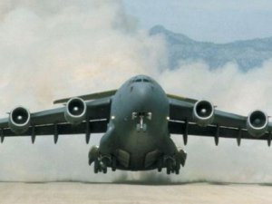İdlib'te Askeri Kargo Uçağı Düşürüldü