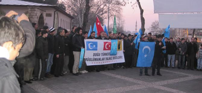 Maraş'ta Doğu Türkistan ve Peygamberimiz İçin Eylem