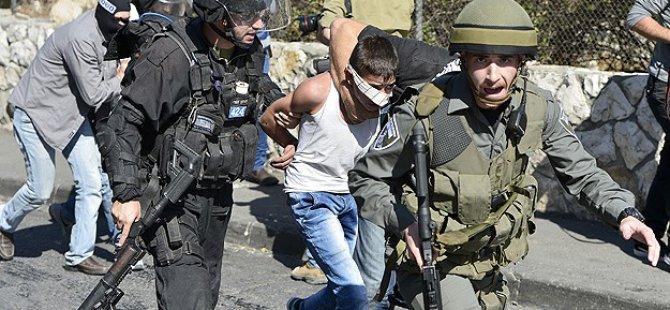 İsrail 17 Filistinliyi Daha Gözaltına Aldı