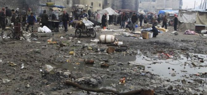 Suriye'de Pazar Katliamı: 65 Ölü