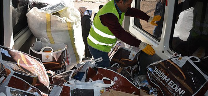 Viranşehir'deki Sığınmacılara Yardımlar Dağıtılmaya Başlandı
