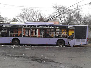 Donetsk'te Troleybüs Durağına Saldırı: 13 Ölü