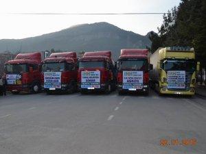 Amasya'dan Suriye'ye 5 Tırlık Yardım Konvoyu