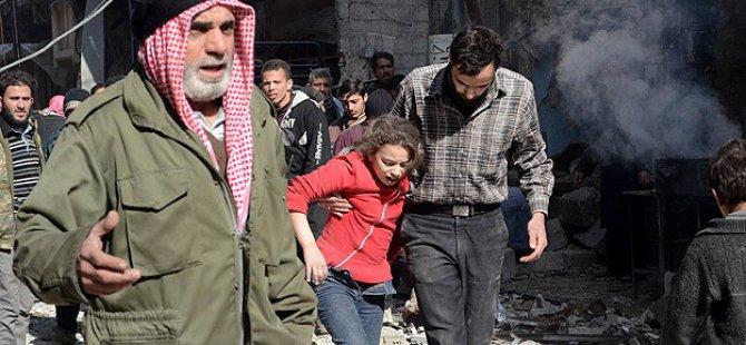 Esed Güçlerinden Varil ve Vakum Bombalı Saldırı