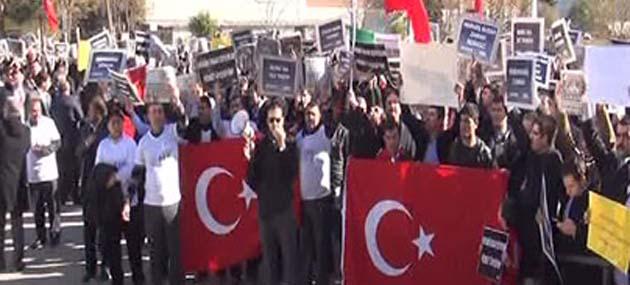 Protestoya Katılan 17 Polis Gözaltında