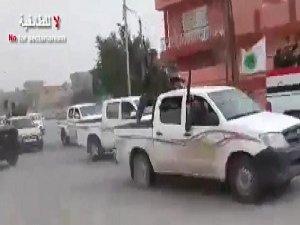 5000 Şii Militan Konvoy Halinde Kerkük'e Geldi (VİDEO)