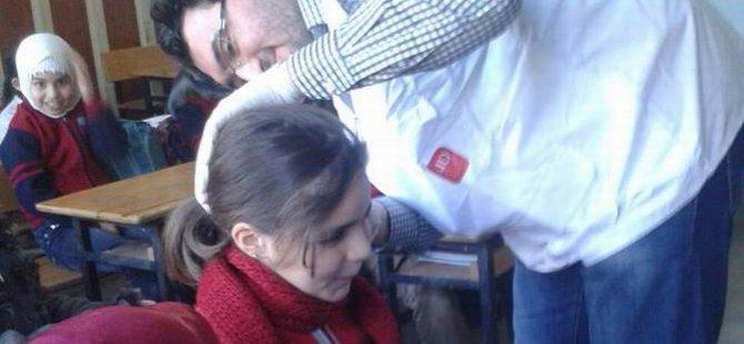 AID Diyarbakır Suriye Okulunda Sağlık Taraması Yaptı
