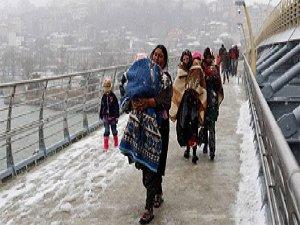 Kar Altında Mülteci Hayatlar (FOTO)