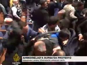 Bursa'da Ahmedinejad'ı Protesto Edenlere Alçak Saldırı