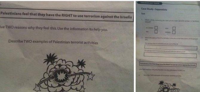 İskoç Okuldan 'Terörist Filistinliler' Ödevi İçin Özür