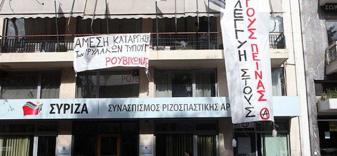 SYRIZA Genel Merkezi İşgal Edildi