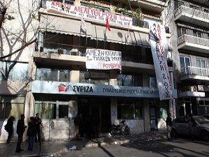 SYRIZA Genel Merkezindeki Eylem Sona Erdi