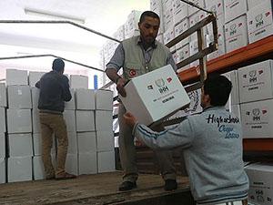 İHH'dan Gazze'ye Gıda Yardımı