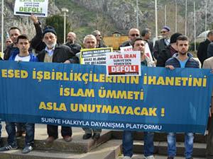 Amasya'da Suriye İntifadası Selamlandı