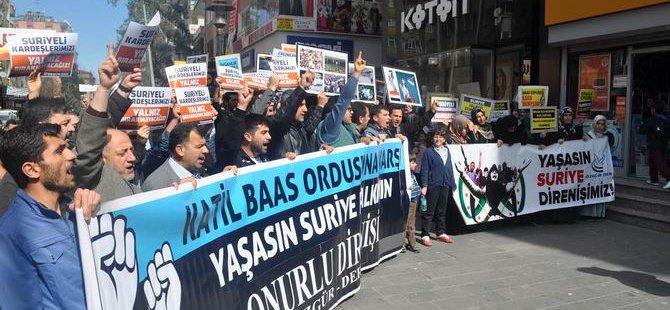 5. Yılına Giren Esed Vahşeti Diyarbakır'da Lanetlendi