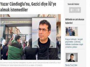 Zaman Gazetesinin Cündioğlu Üzerinden Yalan Haberi