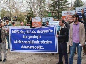ODTÜ'deki Vandallık Erciyes Üniversitesi'nde Protesto Edildi