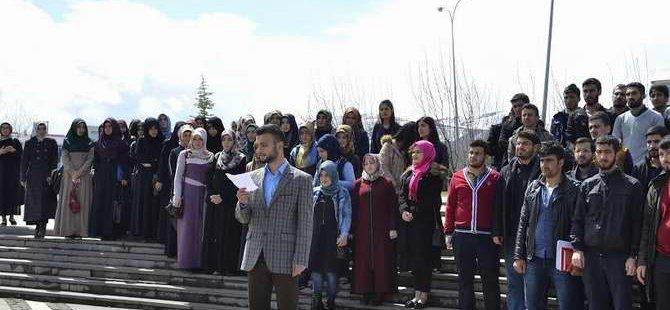 ODTÜ'deki Tahammülsüzlük Bingöl'de Protesto Edildi