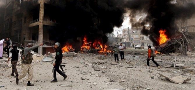 Esed Güçleri İdlib'e Havadan Ölüm Yağdırıyor