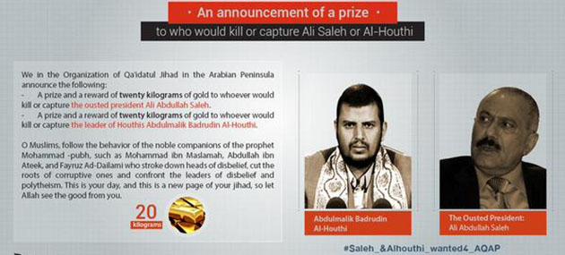 El Kaide İki Liderin Başına Ödül Koydu