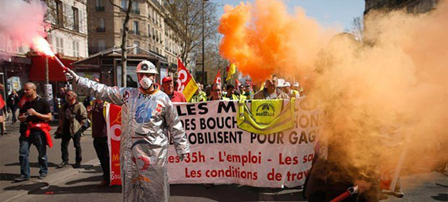 Fransa'da Hayat Durdu