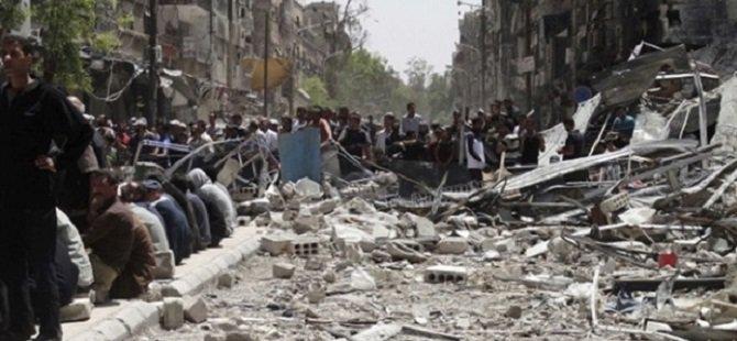 Rejim Güçlerinden Yermuk'a Varil Bombalı Saldırı