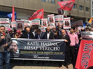 Kamaruzzaman'ın İdamı İstanbul'da Protesto Edildi