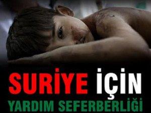 Erzurum'dan Suriye'ye Yardım Seferberliği