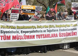 Saraçhane'de Müslüman Esirlerle Dayanışma Eylemi