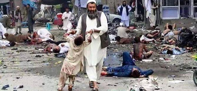 Afganistan'daki Pazar Yerine Saldırıyı IŞİD Üstlendi