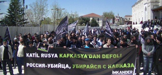 Rusya Fatih Camii'nde Protesto Edildi