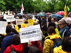Fransa'da İstihbarat Yasa Tasarısı Protestosu