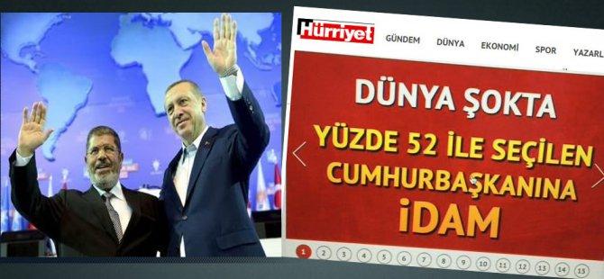 Hürriyet'ten Erdoğan'a İdam İması