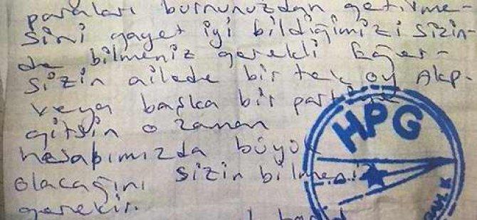 PKK'dan Kürtlere Oy Tehdidi!