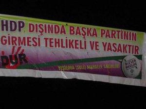 HDP'den Şimdi de Van Erçiş'te Pankartlı Tehdit