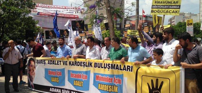 Adana'da Sisi Cuntasının Kararları Protesto Edildi