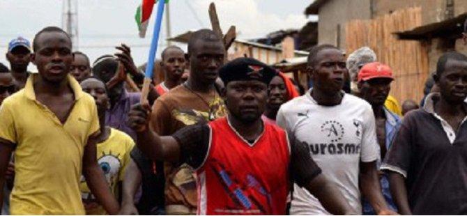Burundi'de gösteriler sürüyor