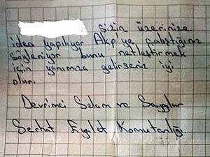 Ağrı'da Seçmene PKK'dan Tehdit Mektubu