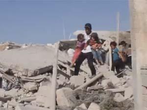 Halep'te Varil Katliamı: 64 Ölü (VİDEO)