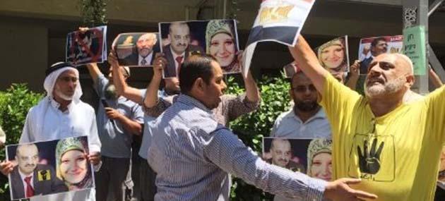 İşgal Topraklarında Mursi'ye Destek Gösterisi