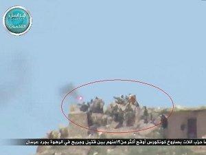 12 Hizbullah Militanı Konkurs Füzesiyle Vuruldu (VİDEO)