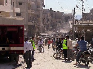 Halep'te Yerleşim Birimlerine Vakum Bombalı Saldırı