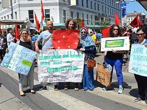 Avusturya'da Göçmen Protestosu