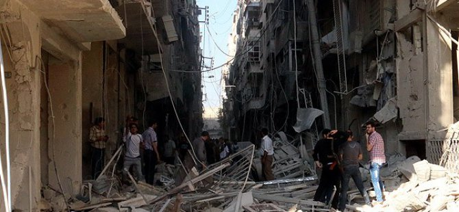 """Humus'ta Esed """"Varil Bombası"""" İle 23 Sivili Katletti"""
