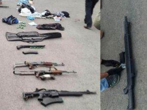 Diyarbakır 6 Kişi Uzi Suikast Silahlarıyla Yakalandı