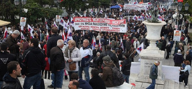 Yunanistan'da Eczacılar Grevde