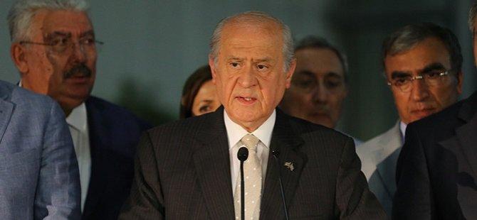 """Bahçeli: """"AKP'deki Gelişmeler Yalnızca Bir Partinin Meselesi Olarak Görülmeyecektir"""""""