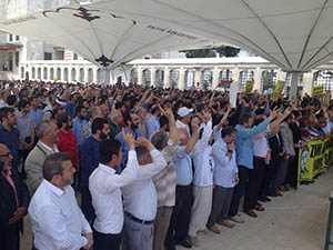Aytaç Baran İçin Fatih'te Gıyabi Cenaze Namazı Kılındı