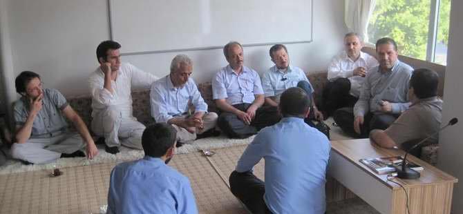 Maraş'ta İslami Kuruluşlardan Hüda Par'a Taziye Ziyareti