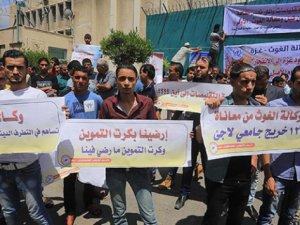 """Gazze'de """"UNRWA"""" Protestosu"""